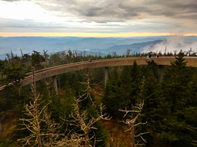 Sunset at Clingman's Dome, Great Smokey Mountains